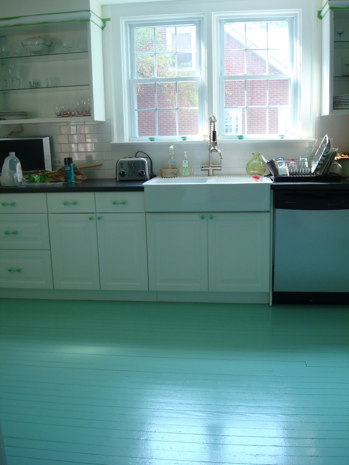 Best ideas about Painted Floors DIY . Save or Pin High Heeled Foot in the Door DIY Painted Kitchen Floor Now.
