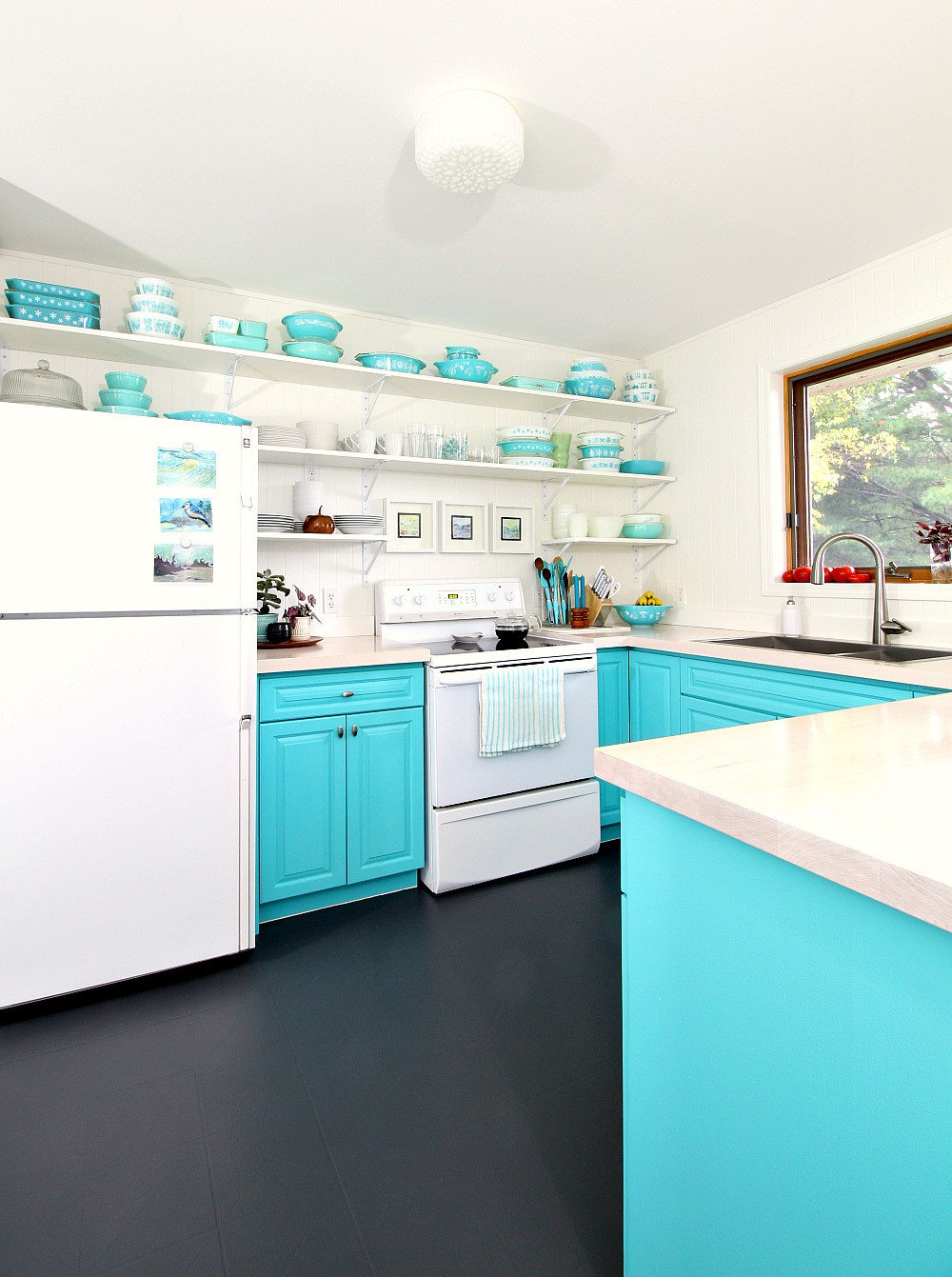 Best ideas about Painted Floors DIY . Save or Pin How to Paint a Vinyl Floor DIY Painted Floors Now.