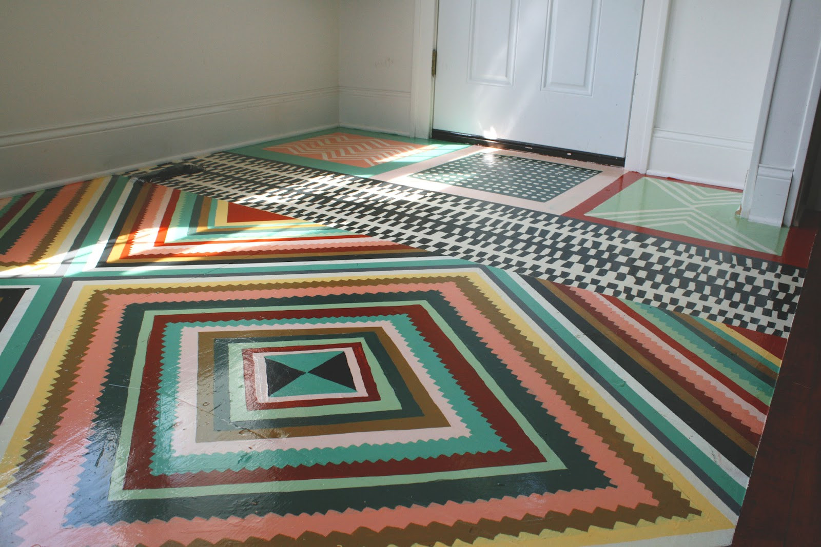 Best ideas about Painted Floors DIY . Save or Pin SHIP & SHAPE DIY Painted Floor Now.