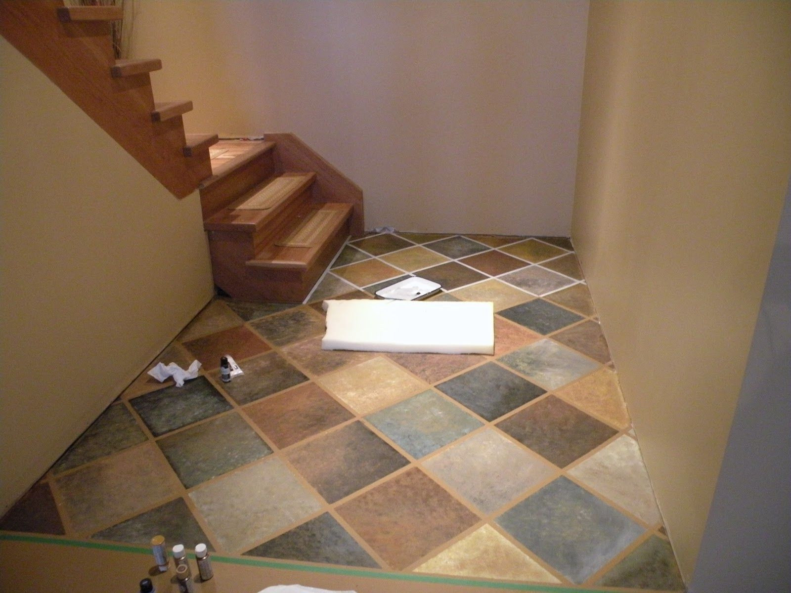 Best ideas about Painted Floors DIY . Save or Pin This is a cool pattern DIY painted concrete flooring We Now.