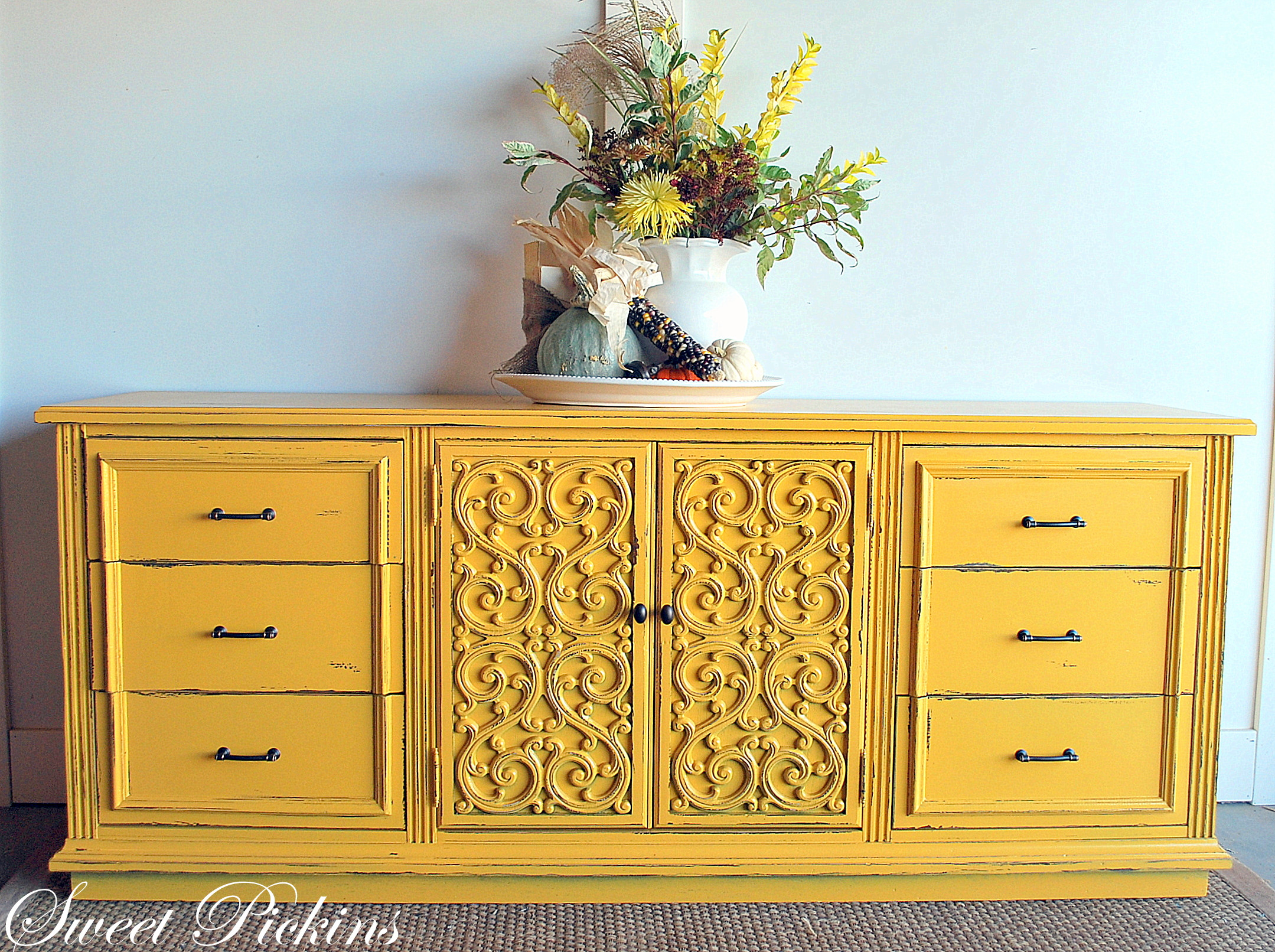 Best ideas about Painted Furniture Ideas . Save or Pin Before & After – Fun Yellow Dresser Now.