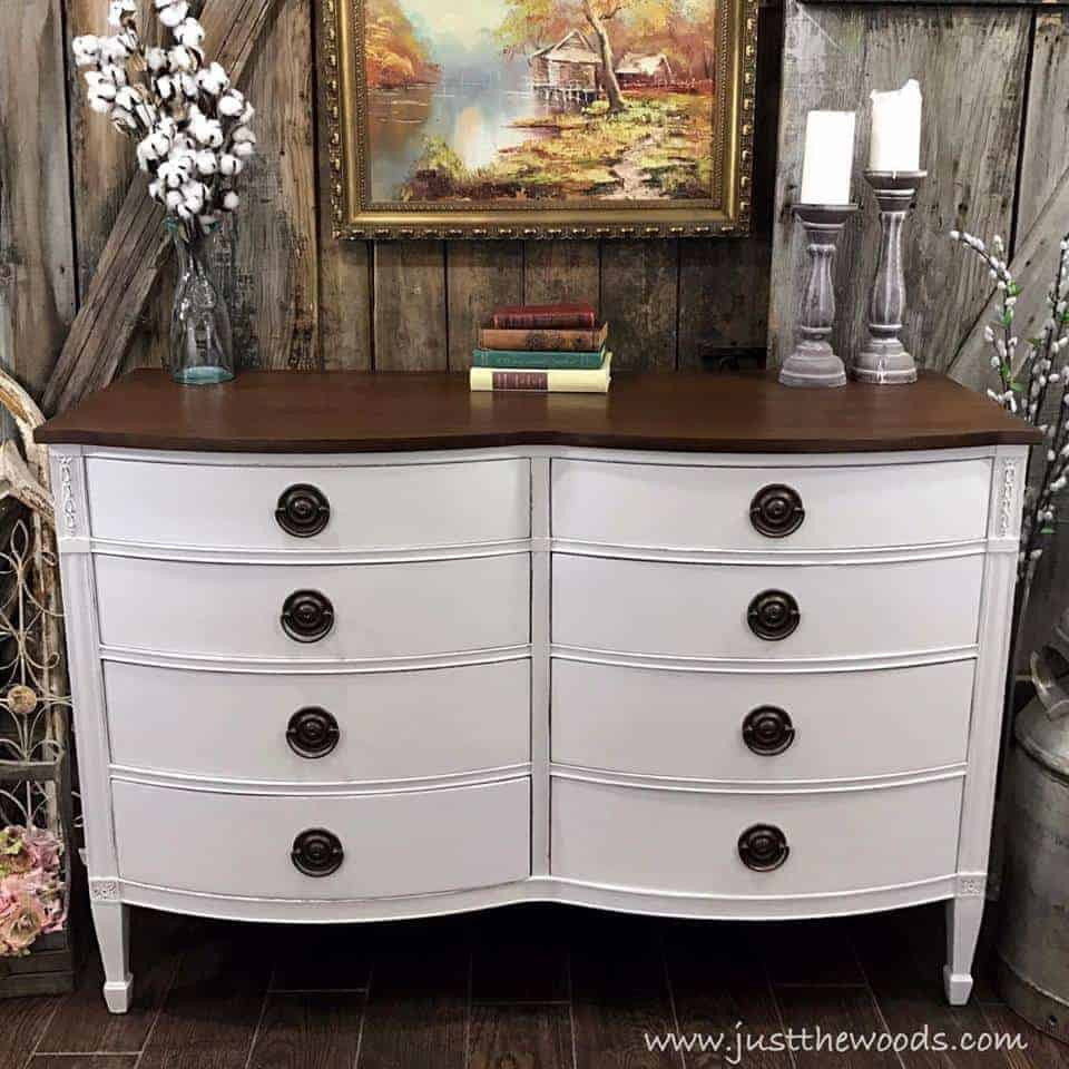 Best ideas about Painted Furniture Ideas . Save or Pin How to Get Farmhouse White Painted Furniture by Just the Woods Now.