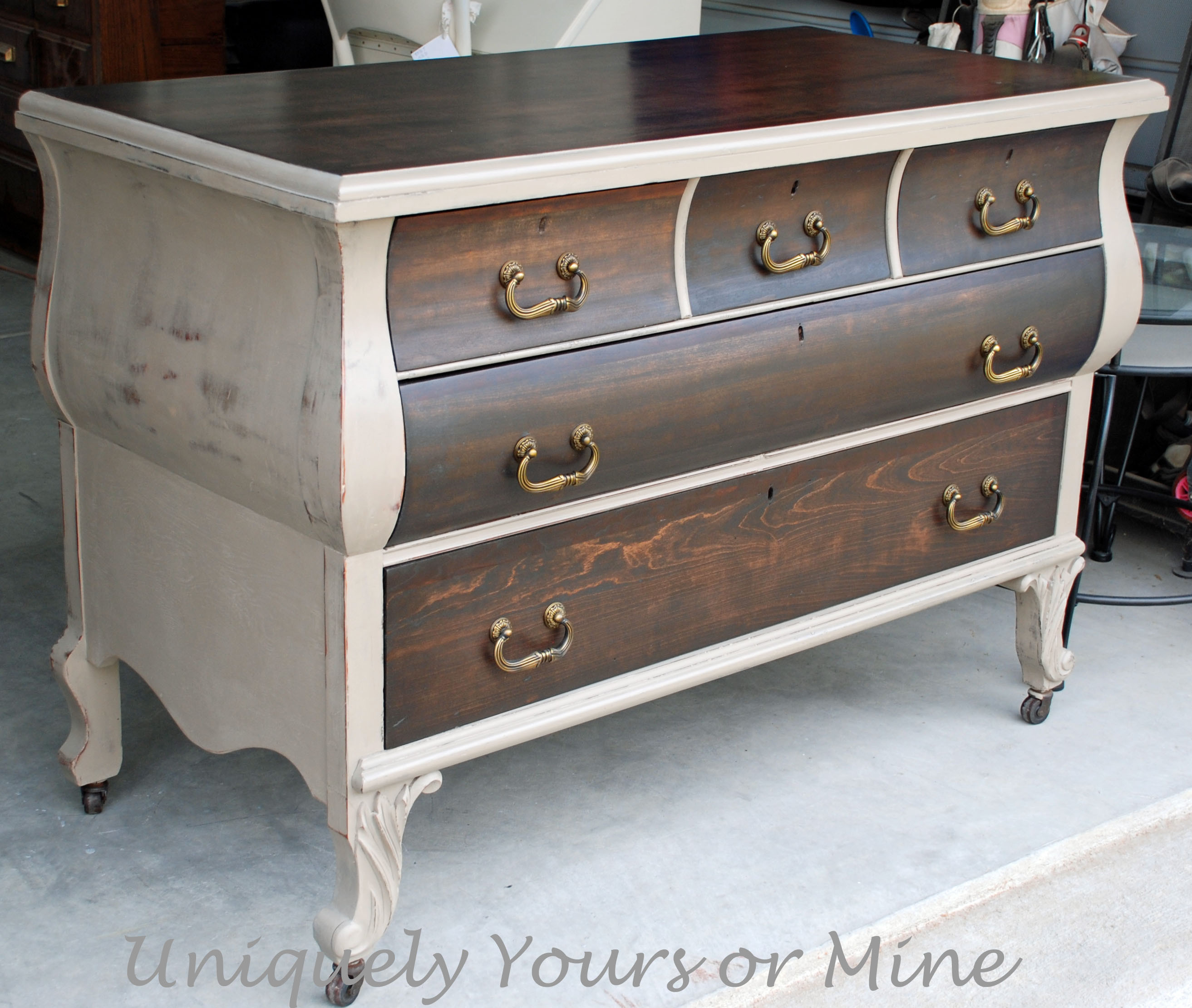 Best ideas about Painted Furniture Ideas . Save or Pin Beautiful Wood Finish and A plimentary Paint for Contrast Now.