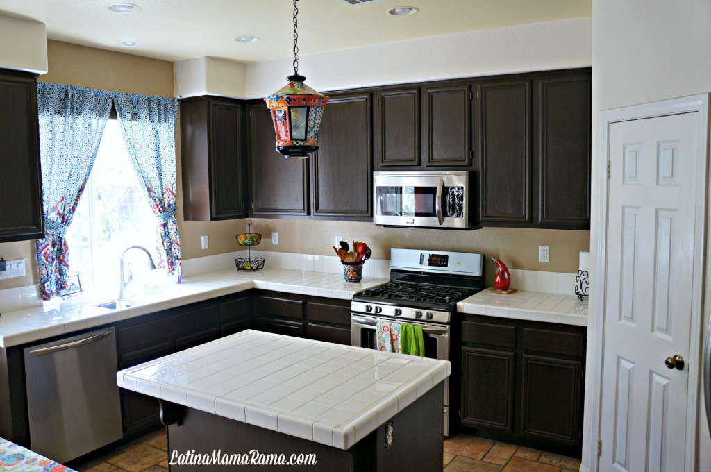Best ideas about Painting Kitchen Cabinets DIY . Save or Pin How to Refinish Your Kitchen Cabinets Latina Mama Rama Now.