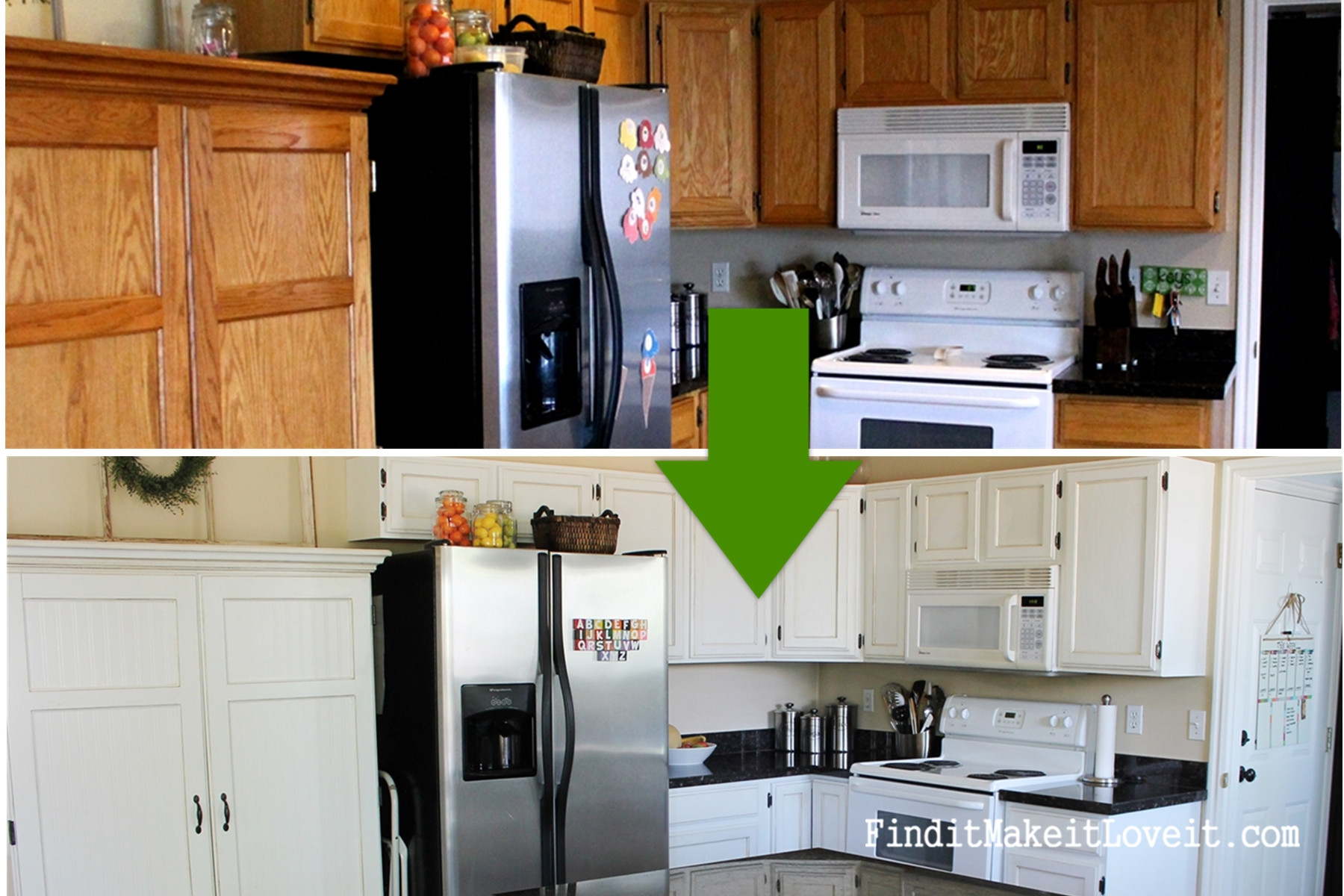 Best ideas about Painting Kitchen Cabinets DIY . Save or Pin $150 Kitchen Cabinet Makeover Find it Make it Love it Now.