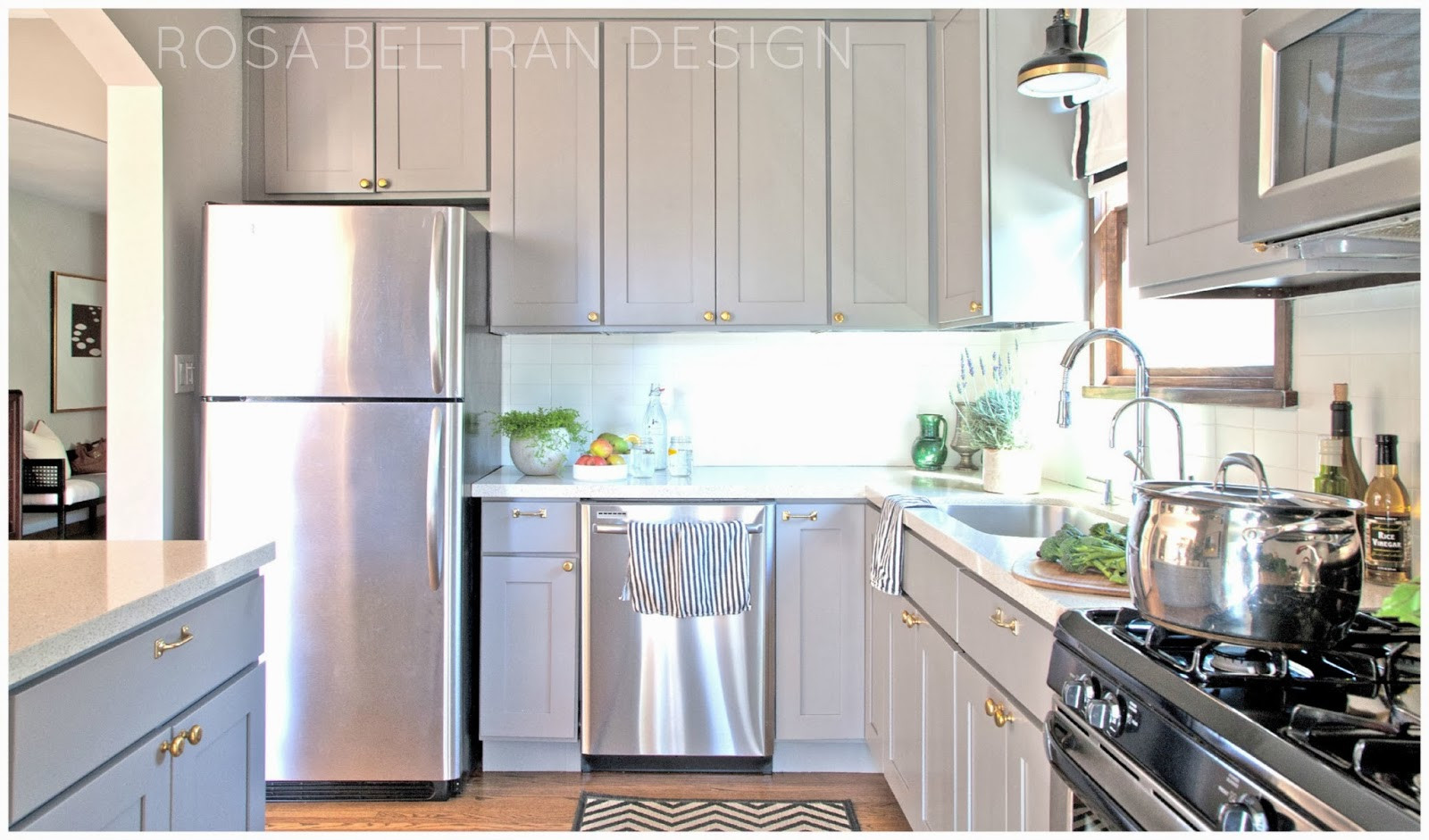Best ideas about Painting Kitchen Cabinets DIY . Save or Pin Rosa Beltran Design DIY PAINTED KITCHEN CABINETS Now.