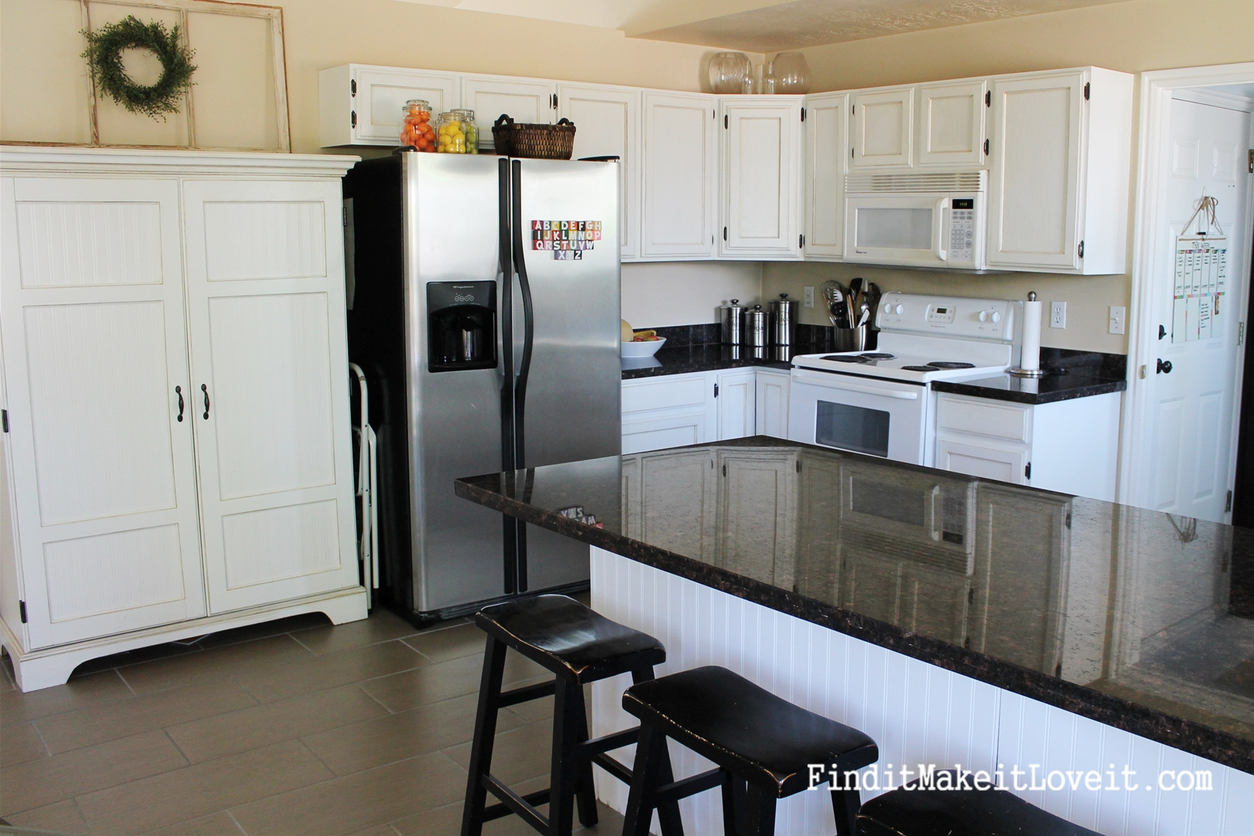 Best ideas about Painting Kitchen Cabinets DIY . Save or Pin Painted Kitchen Hutch Find it Make it Love it Now.
