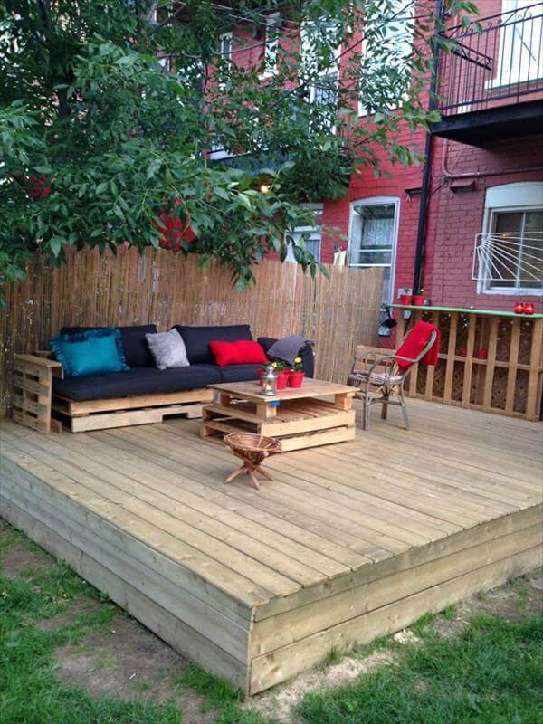 Best ideas about Pallet Decking DIY . Save or Pin DIY Pallet Deck Tutorial Now.