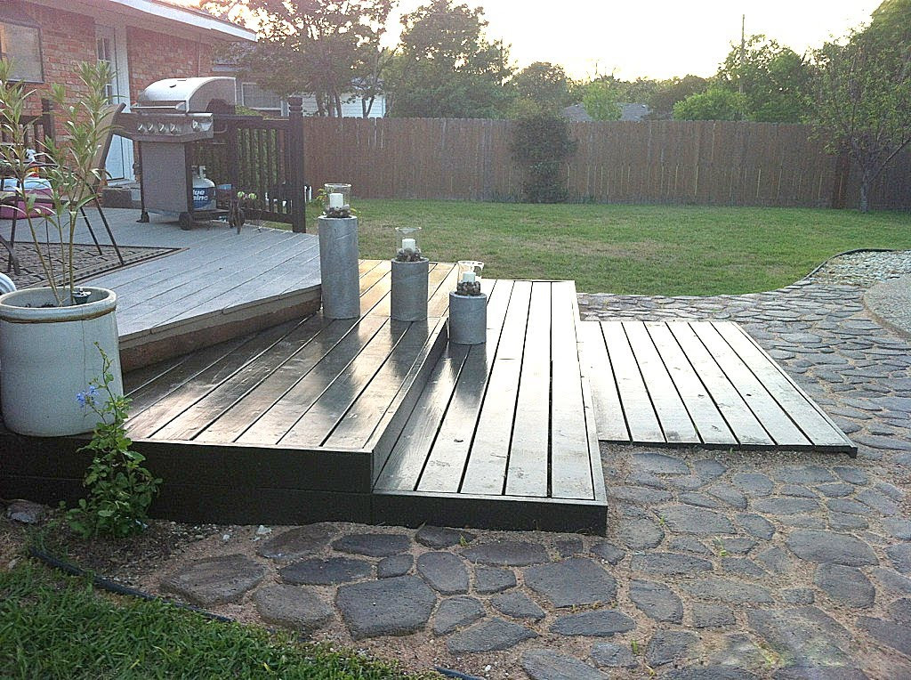 Best ideas about Pallet Decking DIY . Save or Pin DIY Wooden Pallet Deck for Under $300 Now.