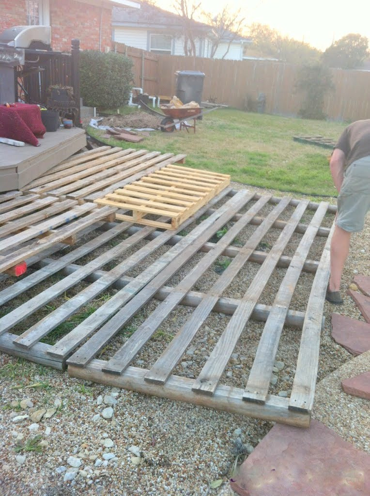 Best ideas about Pallet Decking DIY . Save or Pin Remodelaholic Now.