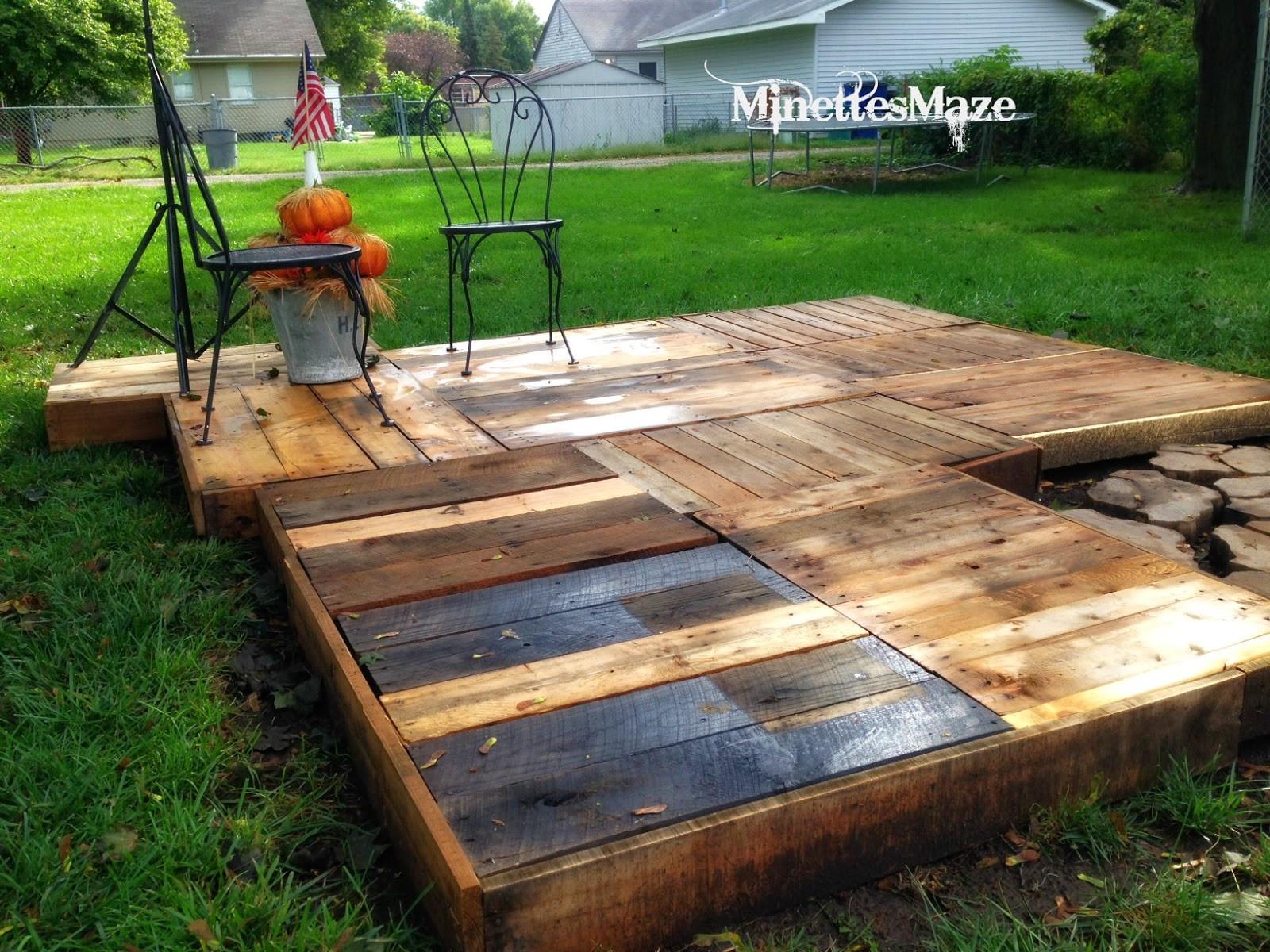 Best ideas about Pallet Decking DIY . Save or Pin MinettesMaze DIY Pallet Deck Now.