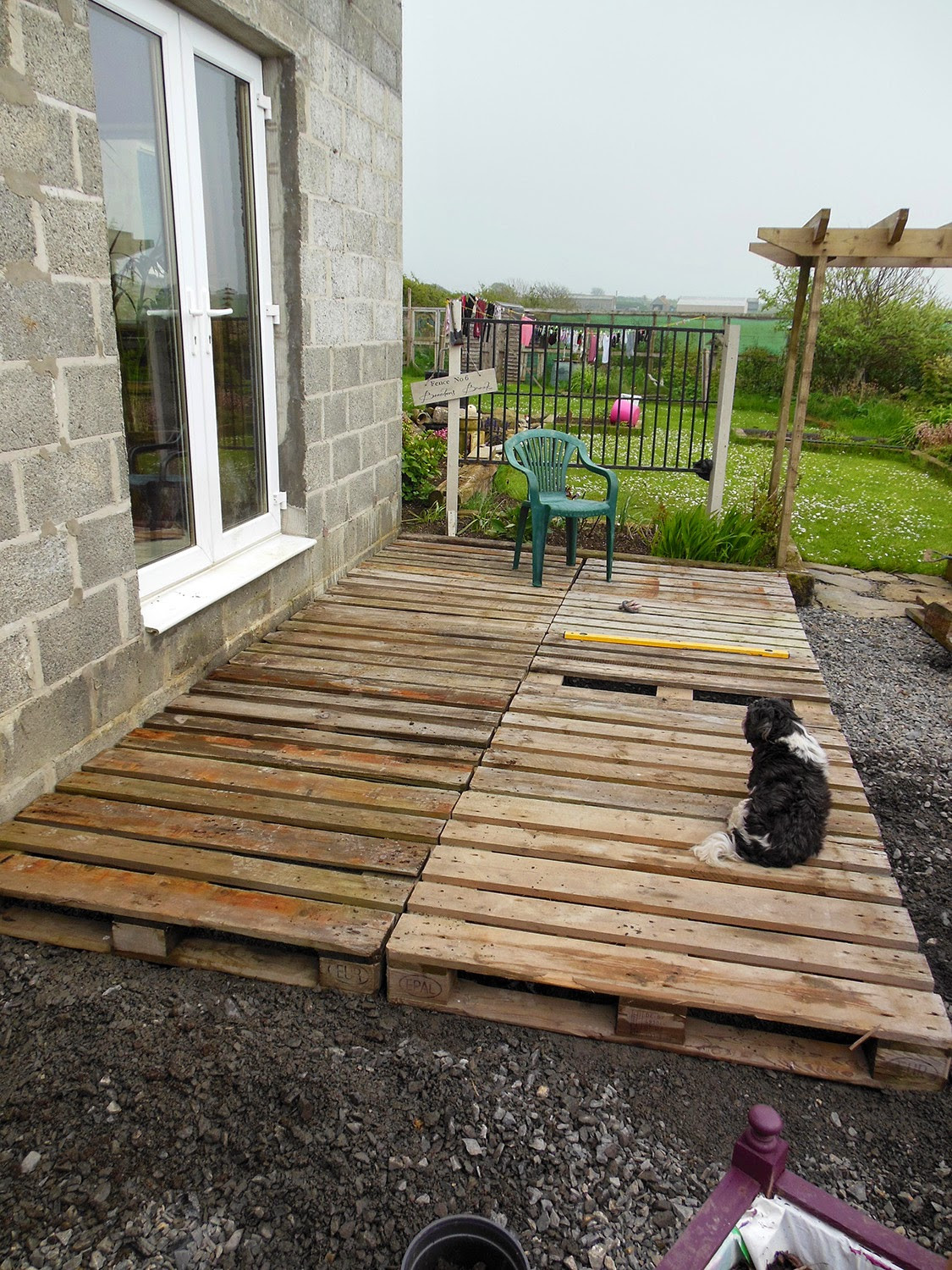 Best ideas about Pallet Decking DIY . Save or Pin Coach House Crafting on a bud Diy pallet wood decking Now.