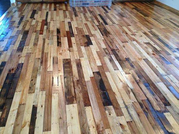 Best ideas about Pallet Flooring DIY . Save or Pin DIY Pallet Flooring Now.