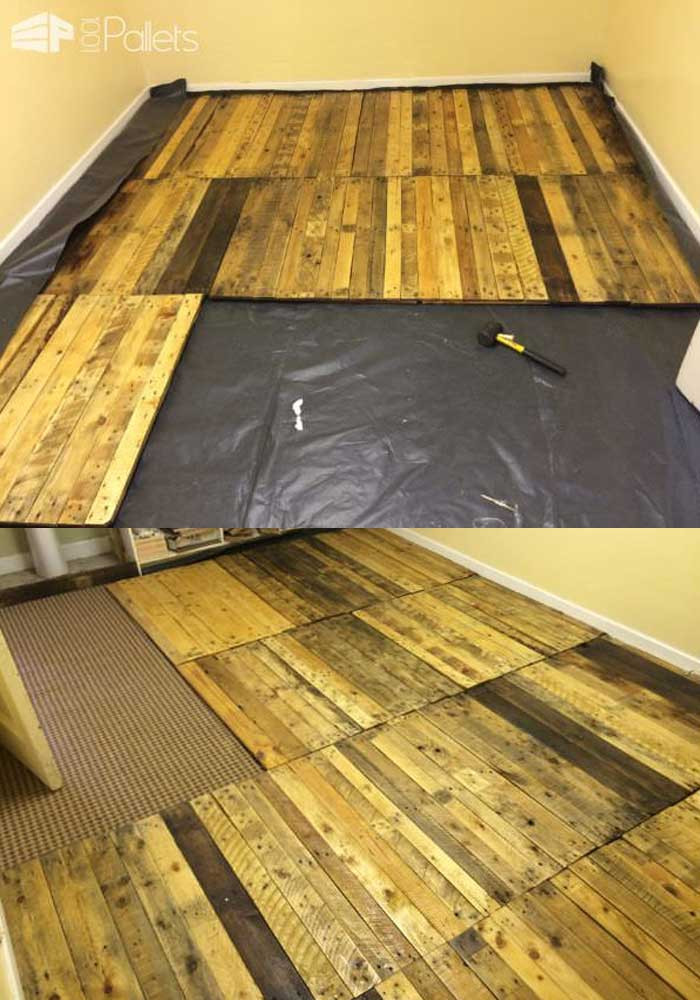 Best ideas about Pallet Flooring DIY . Save or Pin Easy to Build Wood Pallet Flooring at No Cost DIY Design Now.