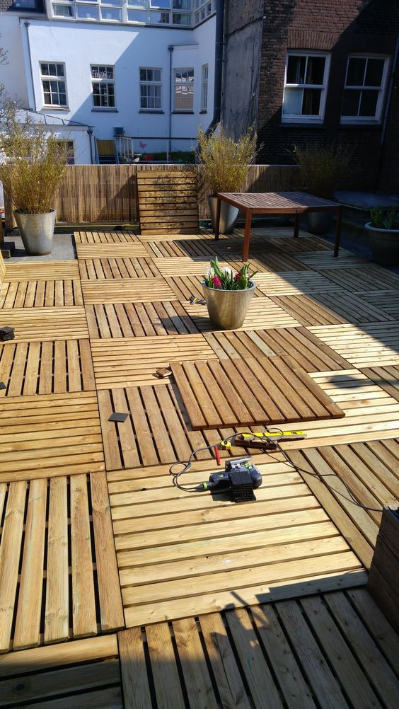 Best ideas about Pallet Flooring DIY . Save or Pin Easy to Build Wood Pallet Flooring at No Cost Now.
