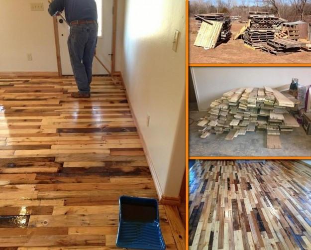 Best ideas about Pallet Flooring DIY . Save or Pin DIY Pallet Wood Flooring Tutorial Now.
