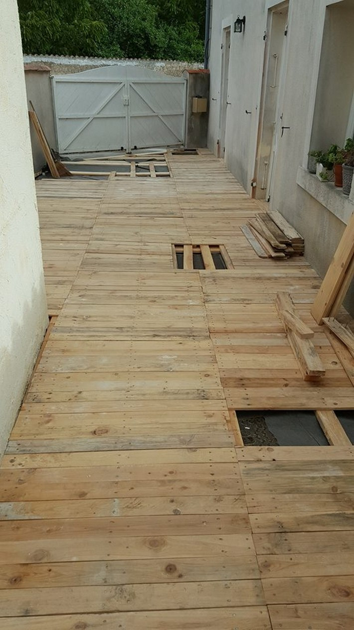 Best ideas about Pallet Flooring DIY . Save or Pin DIY Patio Pallet Floor Now.