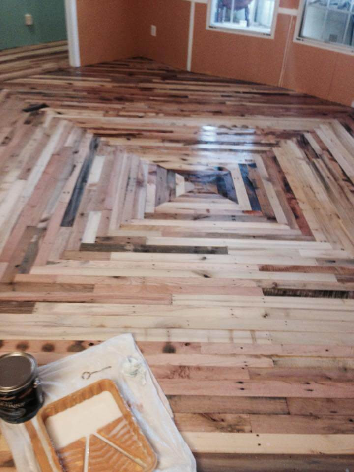 Best ideas about Pallet Flooring DIY . Save or Pin Pallet Flooring Cheaper Than Wood DIY Now.