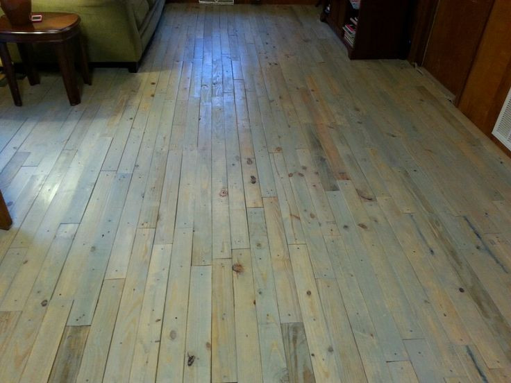 Best ideas about Pallet Flooring DIY . Save or Pin DIY pallet floor Dream Home Now.