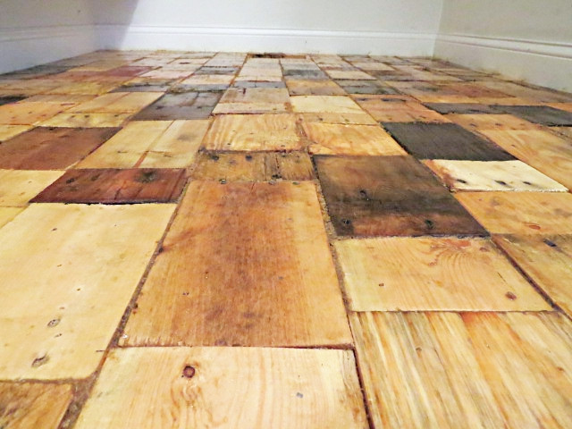 Best ideas about Pallet Flooring DIY . Save or Pin Redoing a Floor With Free Pallet Wood Now.