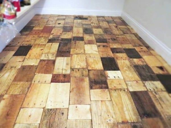 Best ideas about Pallet Flooring DIY . Save or Pin DIY Recycled Pallet Wood Flooring Now.