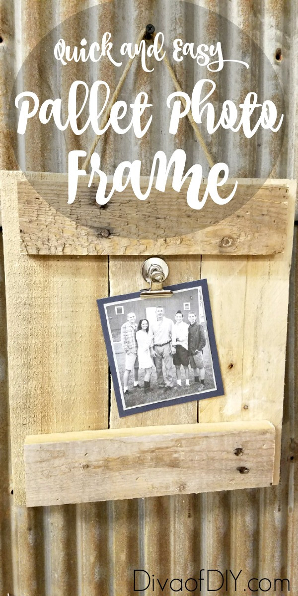 Best ideas about Pallet Gift Ideas . Save or Pin DIY Picture Frame Made Out of Pallet Wood Now.