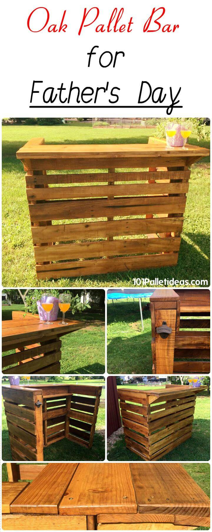 Best ideas about Pallet Gift Ideas . Save or Pin Oak Pallet Bar for Father s Day Now.