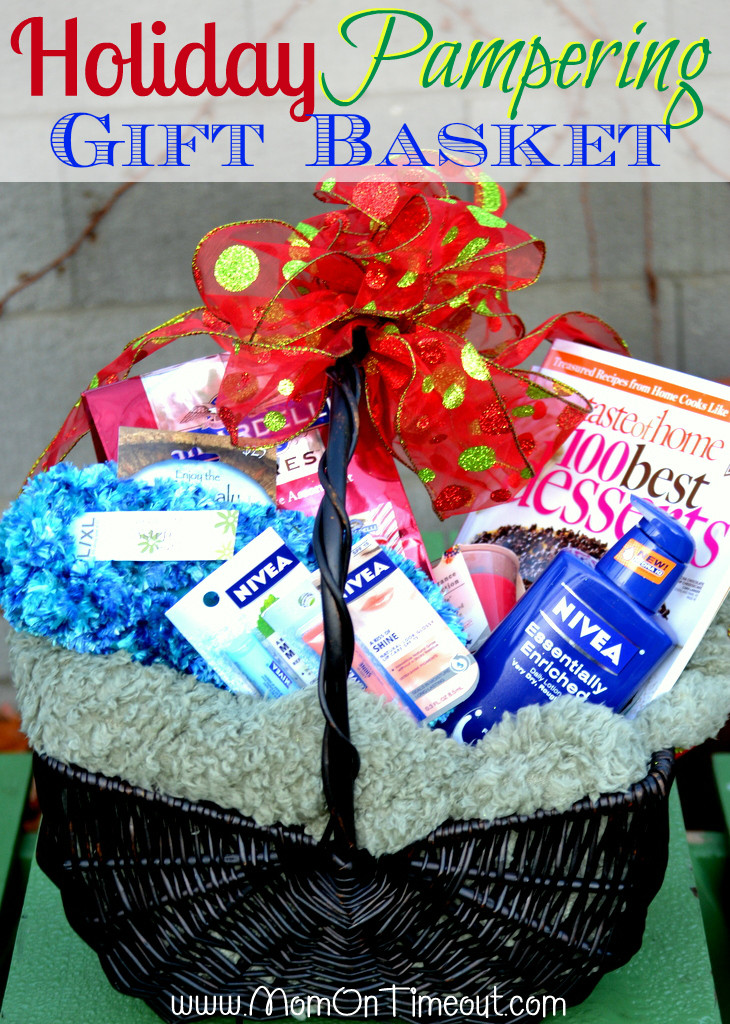 Best ideas about Pamper Gift Basket Ideas . Save or Pin Holiday Pampering Gift Basket Idea Mom Timeout Now.