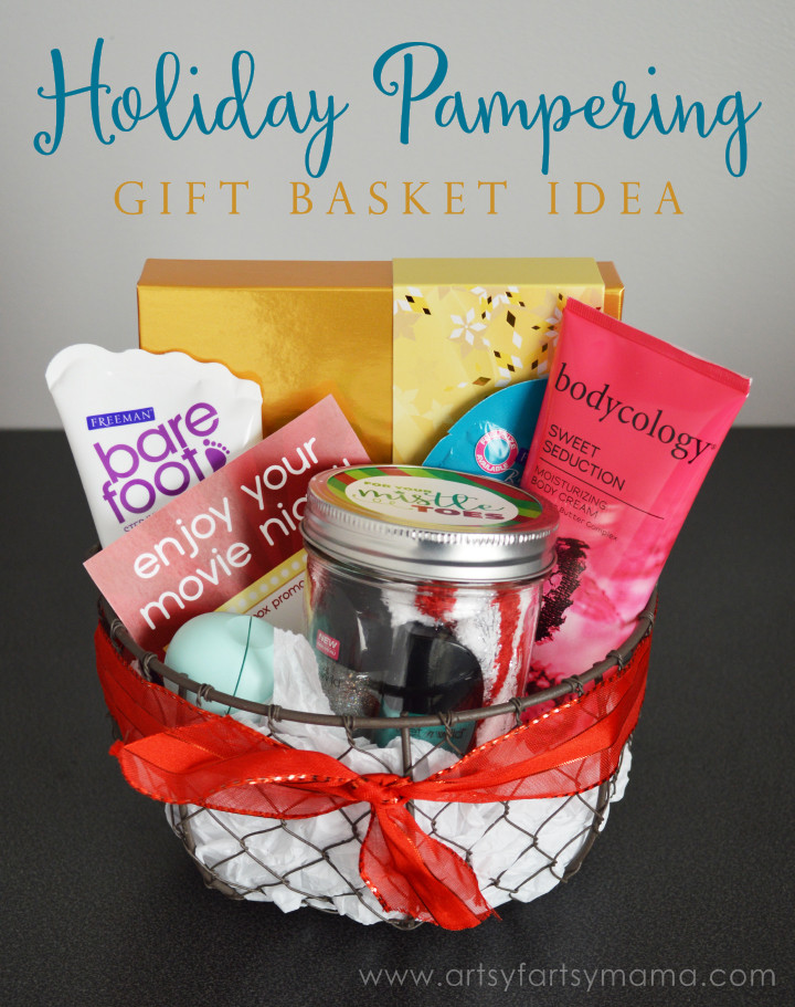 Best ideas about Pamper Gift Basket Ideas . Save or Pin Holiday Pampering Gift Basket Idea Now.