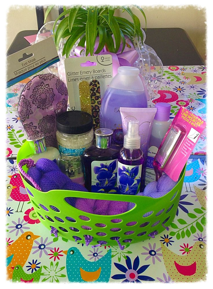 Best ideas about Pamper Gift Basket Ideas . Save or Pin Spoil your teachers Pamper yourself basket Now.