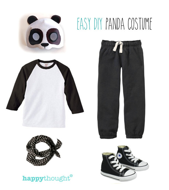 Best ideas about Panda Costume DIY . Save or Pin Simple DIY mask ideas Easy fun dress up Animal costume Now.