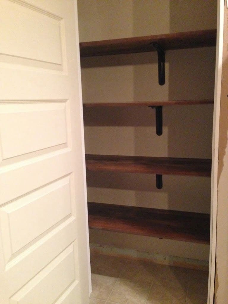 Best ideas about Pantry Shelves DIY . Save or Pin Building a Kitchen Pantry on a Bud Now.