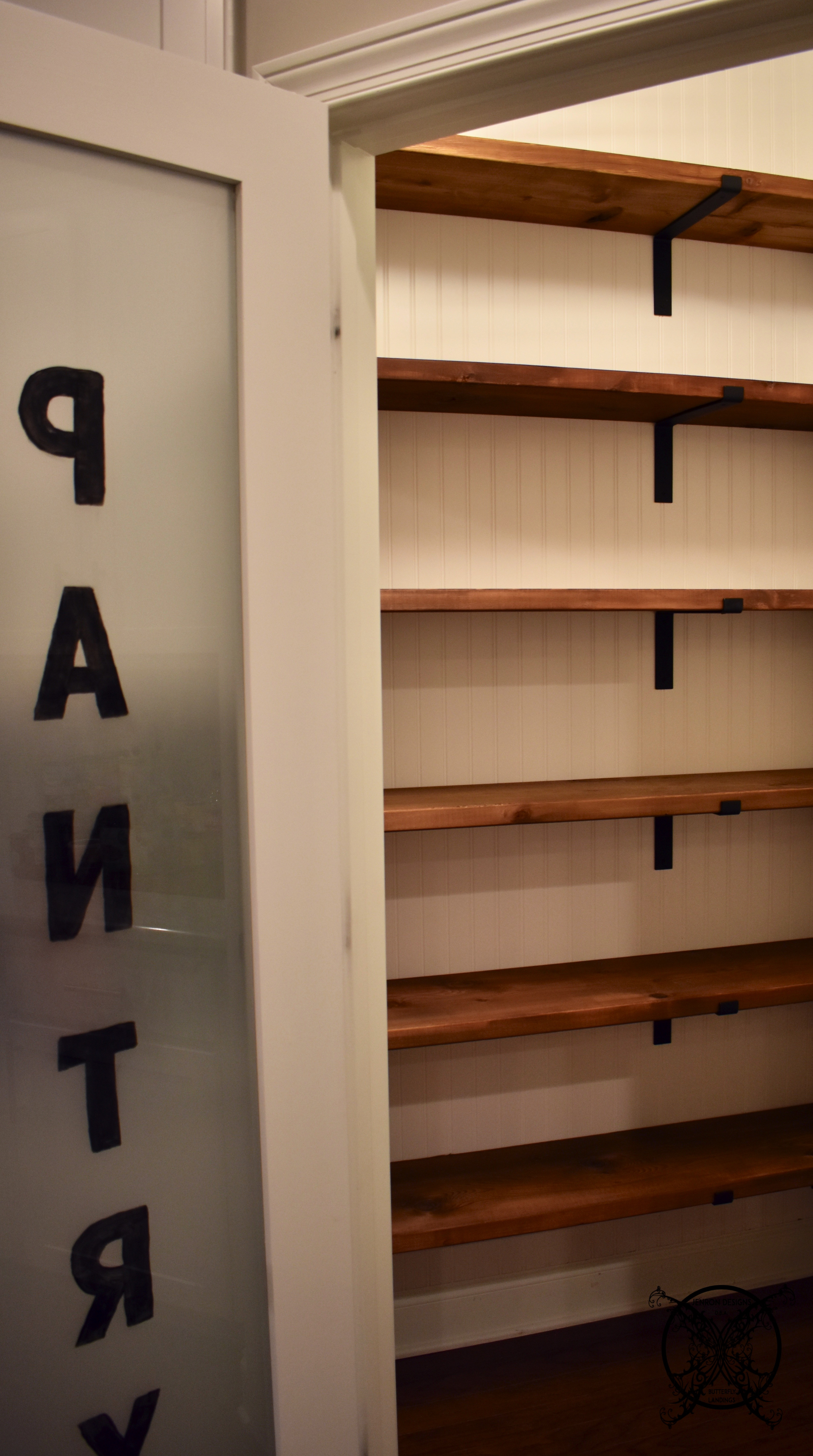 Best ideas about Pantry Shelves DIY . Save or Pin DIY Farmhouse Pantry Shelves Now.