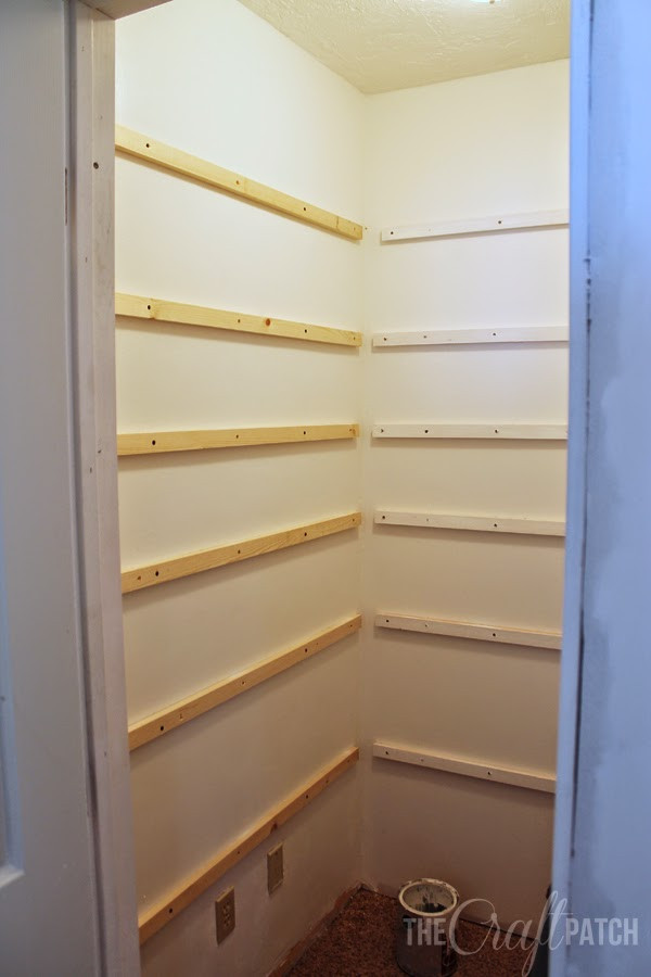 Best ideas about Pantry Shelves DIY . Save or Pin The Craft Patch How to Build Pantry Shelving Now.