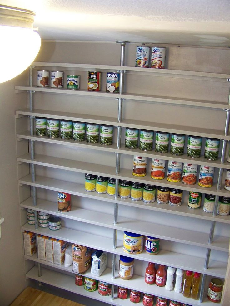 Best ideas about Pantry Shelves DIY . Save or Pin DIY pipe pantry shelves Now.