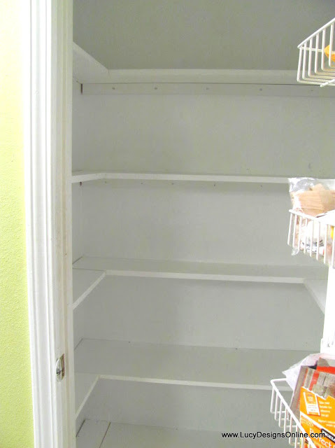 Best ideas about Pantry Shelves DIY . Save or Pin Kitchen Pantry Makeover DIY Installing Wood Wrap Around Now.