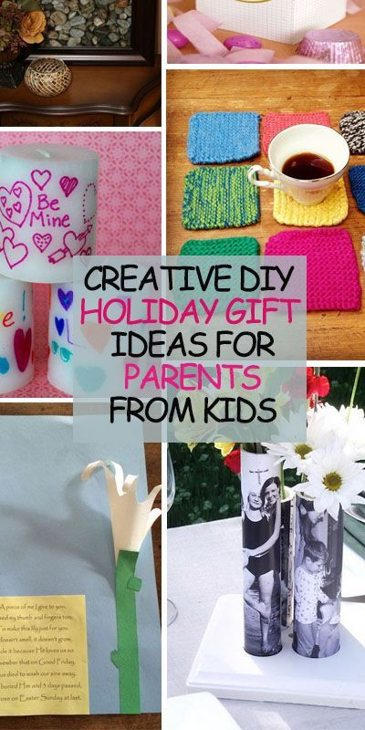 Best ideas about Parents Gift Ideas . Save or Pin Creative DIY Holiday Gift Ideas for Parents from Kids Now.