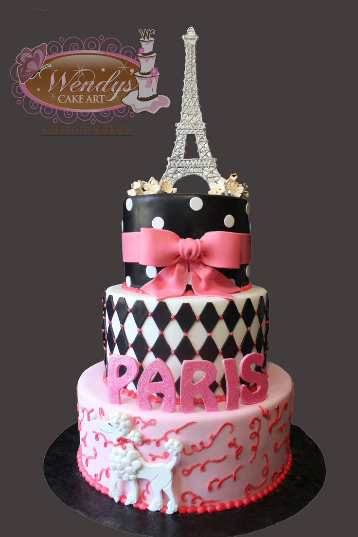 Best ideas about Paris Birthday Cake . Save or Pin Paris theme cake from Wendyscakeart Now.
