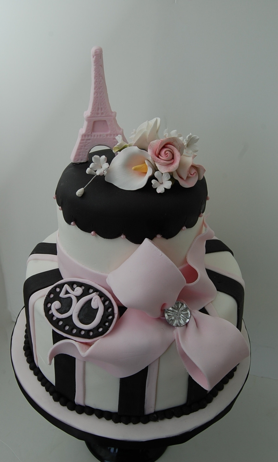 Best ideas about Paris Birthday Cake . Save or Pin Paris Themed 50Th Birthday Cake CakeCentral Now.