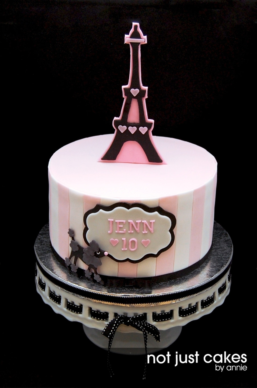 Best ideas about Paris Birthday Cake . Save or Pin Pink And Black Paris Themed Cake CakeCentral Now.