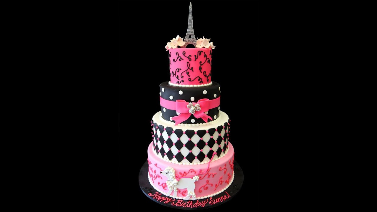 Best ideas about Paris Birthday Cake . Save or Pin Parisian Themed 1st Birthday Cake Now.