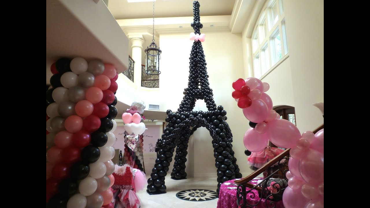 Best ideas about Paris Birthday Decorations . Save or Pin Pink Poodle in Paris Theme Birthday Decoration DreamARK Now.