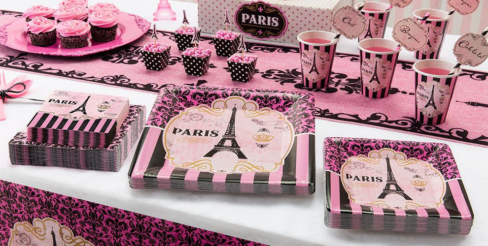 Best ideas about Paris Birthday Decorations . Save or Pin A Day in Paris Party Supplies Now.