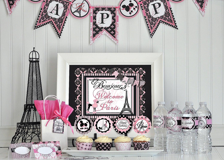 Best ideas about Paris Birthday Decorations . Save or Pin Paris Party Package Paris Decorations Paris DIY Party Now.
