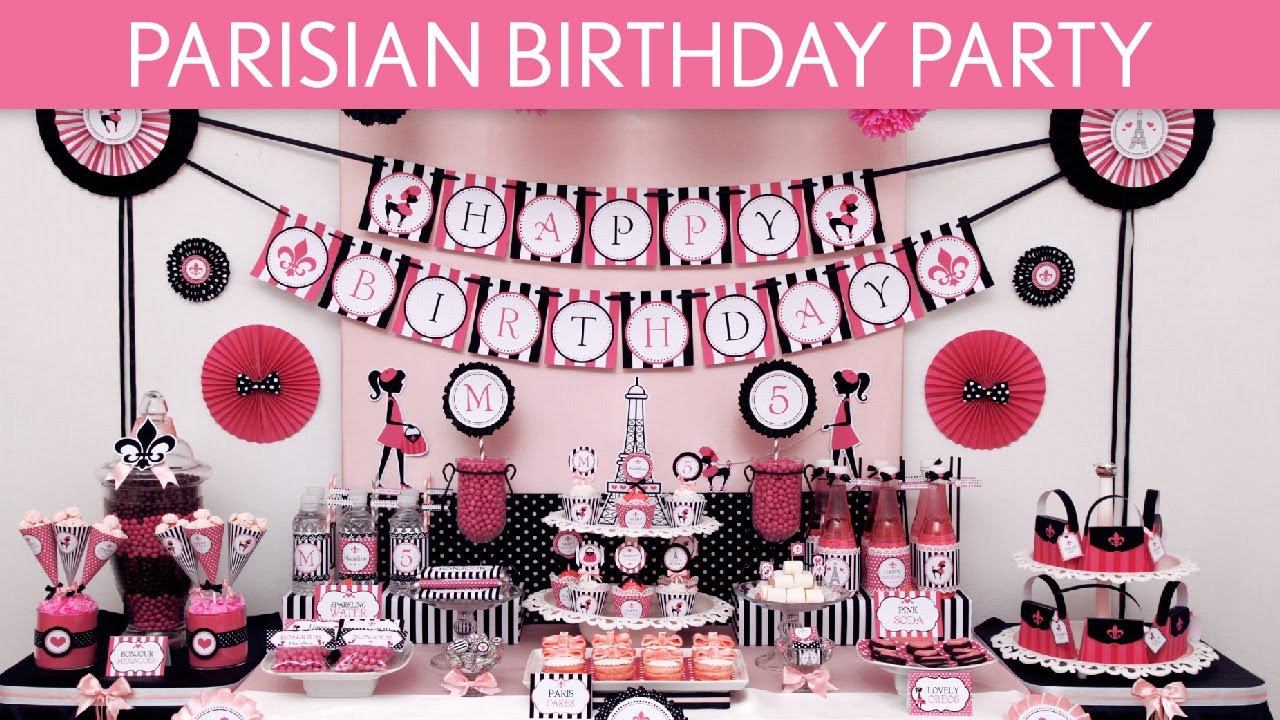 Best ideas about Paris Birthday Party . Save or Pin Parisian Birthday Party Ideas Parisian B105 Now.