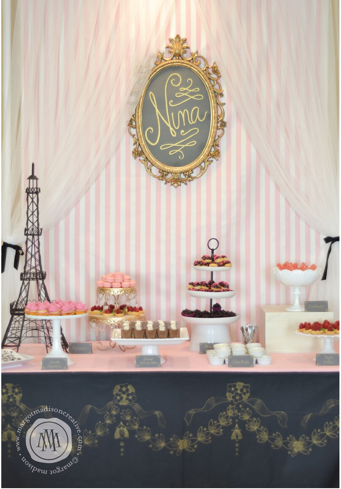 Best ideas about Paris Birthday Party . Save or Pin MargotMadison A Pink and Gold Parisian Party for Nina Now.