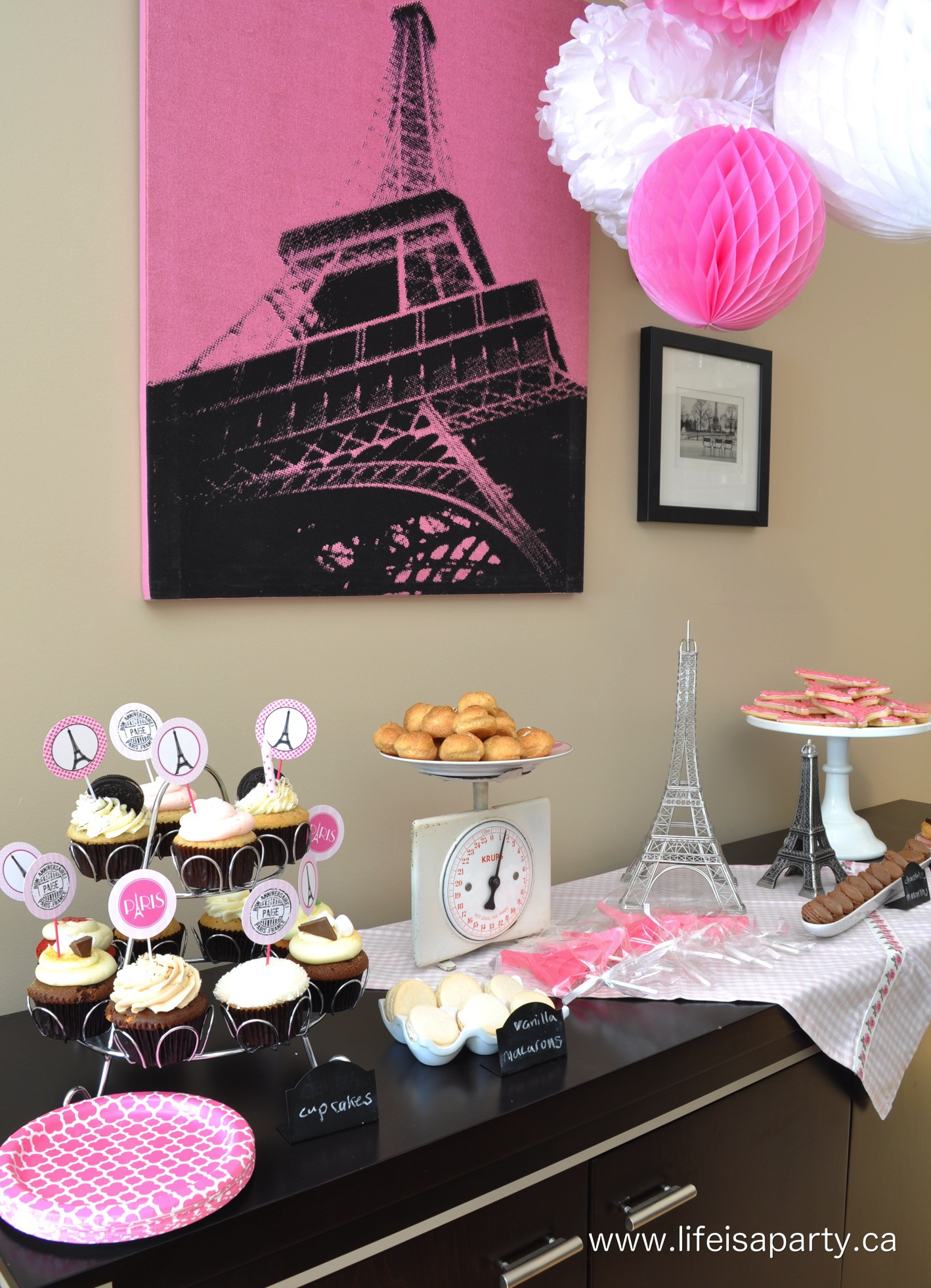 Best ideas about Paris Birthday Party . Save or Pin Paris Birthday Party Part Two The Food Life is a Party Now.