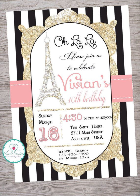 Best ideas about Paris Themed Birthday Invitations . Save or Pin Best 25 Paris invitations ideas on Pinterest Now.