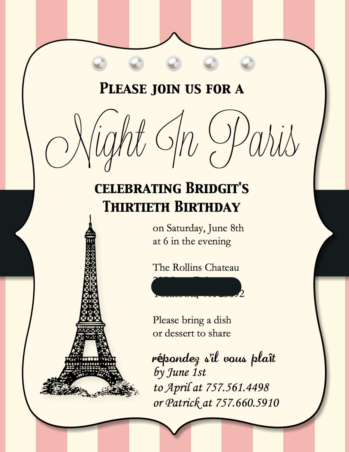 Best ideas about Paris Themed Birthday Invitations . Save or Pin Paris themed Birthday Party Invitations 15 invites Now.