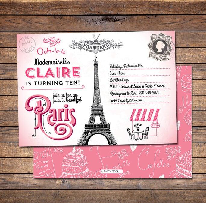 Best ideas about Paris Themed Birthday Invitations . Save or Pin Paris Invitation Paris Birthday Invitation Paris Party Now.